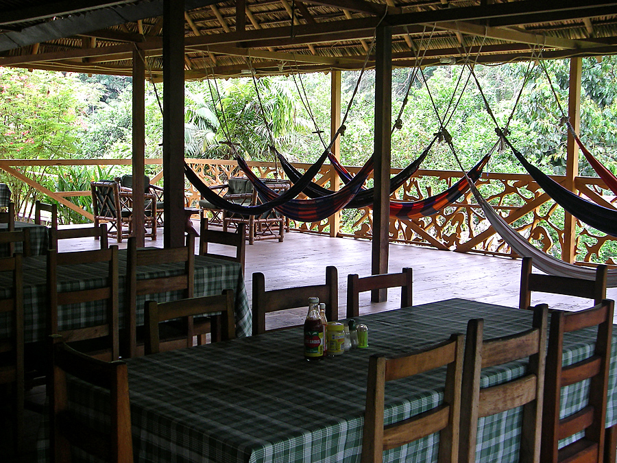 Spanish lessons in the open air dining room