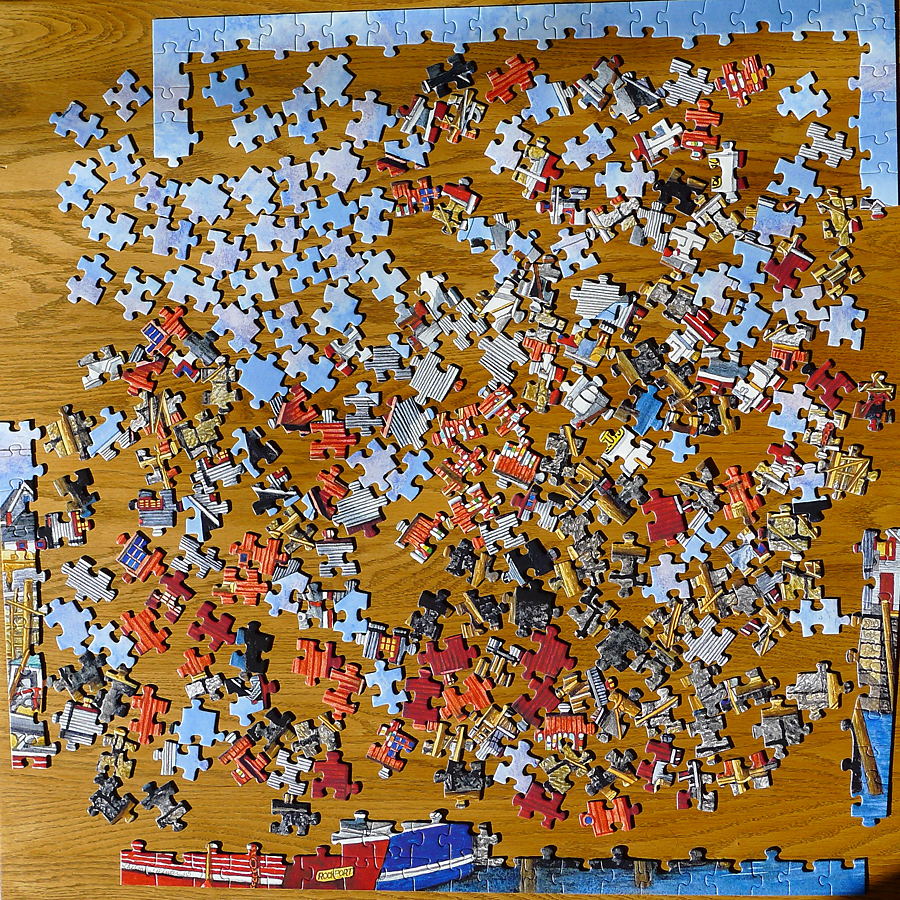 a 300-piece jigsaw puzzle