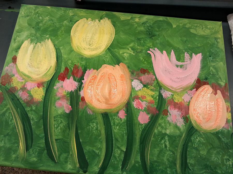 beginning tulips