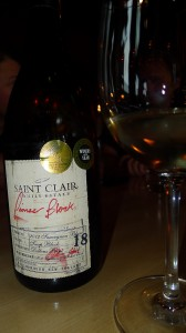 a New Zealand Sauvignon Blanc called Saint Clair