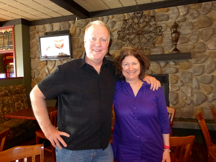 James Scott Bell with Suzanne Stengl, in Calgary Alberta