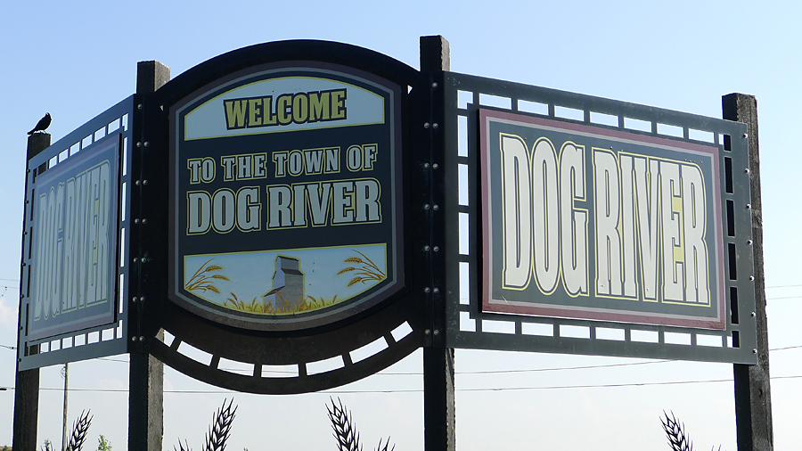Dog River Sign