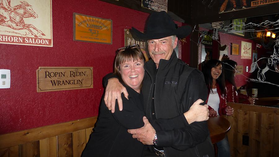Victoria Curran and Cowboy at the Powderhorn Saloon