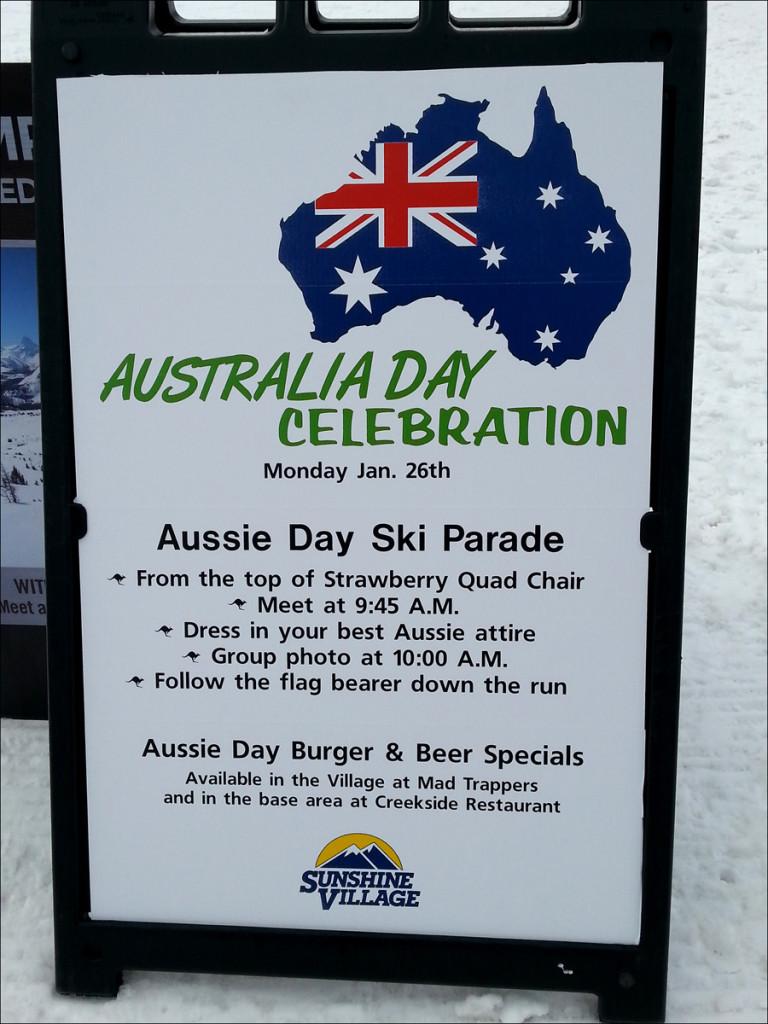 Sunshine Village Aussie Day
