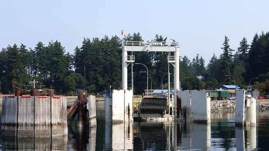 Hornby Island ferry dock