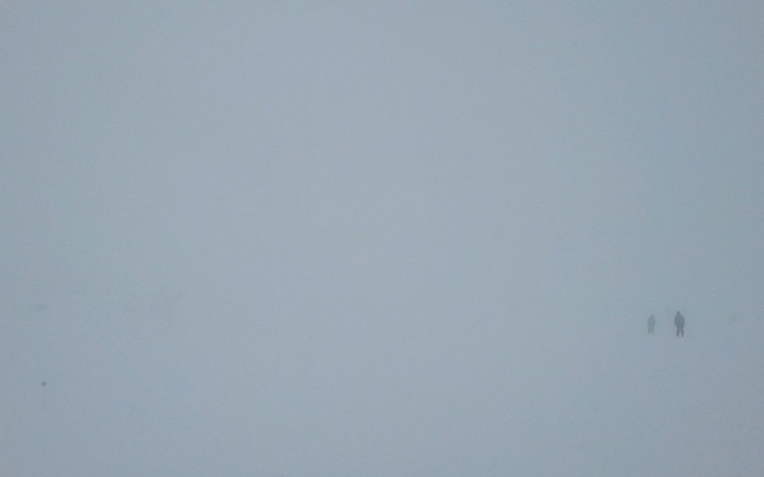 Skiing in a Whiteout