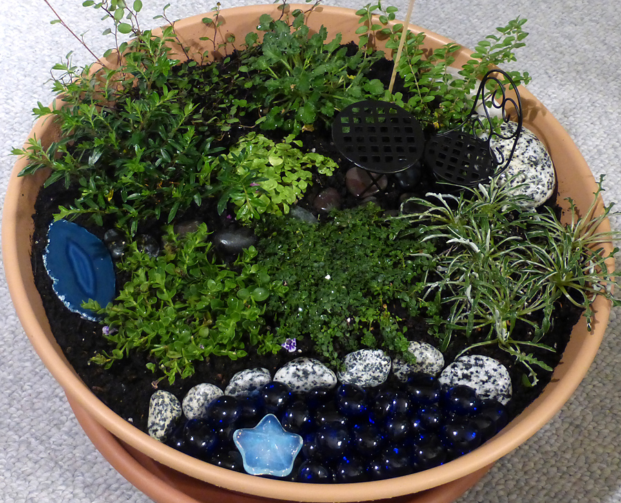 fairy garden with everything added