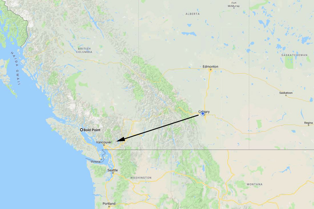 Calgary to Hope to Vancouver
